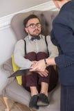 Mann am Psychotherapeuten Lizenzfreies Stockbild
