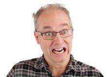 Mann scherzt über etwas Stockfotos