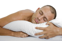 Mann-Schlafen Lizenzfreies Stockfoto