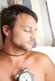 Mann schlafend Lizenzfreie Stockfotografie