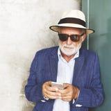 Mann-Schnurrbart-Bart-intelligentes zufälliges Freizeit-Art-Konzept Stockbild