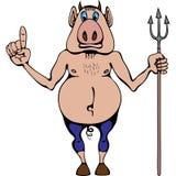 Mann-Schwein (Hölle, Teufel) Lizenzfreies Stockfoto