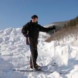 Mann-Skifahrer Lizenzfreies Stockfoto