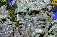 5 Mann-Skulptur Lizenzfreies Stockfoto
