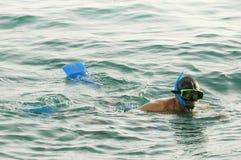 Mann snorkeling1 Stockbild