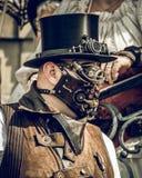 Mann Steampunk-Vereinbarungs-eine lizenzfreie stockbilder