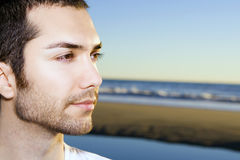 Mann am Strand Stockbilder