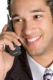 Mann am Telefon stockbild