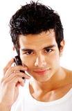 Mann am Telefon Lizenzfreie Stockbilder