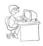 Mann am Tisch vektor abbildung