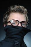 Mann-tragende Gläser Lizenzfreie Stockfotos