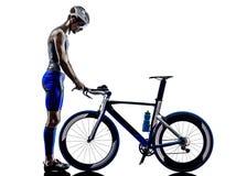 Mann Triathloneisen-Mannathlet lizenzfreies stockbild