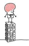 Mann u. Gehirn 3 Stockbild