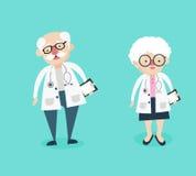 Mann- und Ärztincharaktere lizenzfreie abbildung