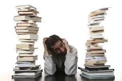 Mann und Bücher Lizenzfreie Stockbilder