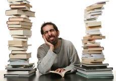 Mann und Buch Lizenzfreies Stockfoto