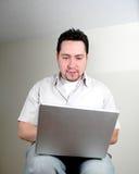 Mann und computer-5 stockfoto
