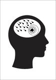Mann und Denken vektor abbildung