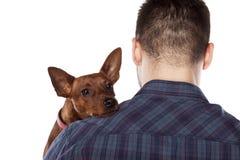 Mann und ein Hund Lizenzfreie Stockfotografie
