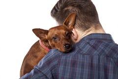 Mann und ein Hund Lizenzfreie Stockfotos