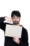 Mann und ein Zeichen lizenzfreies stockbild