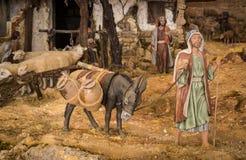 Mann und Esel Stockfotografie