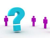 Mann und Frage Stockfotos