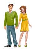 Mann und Frau Stockbild