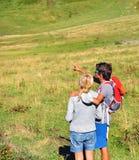 Mann und Frau draußen Lizenzfreies Stockfoto