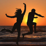 Mann und Frau genießen Feiertag Lizenzfreies Stockbild