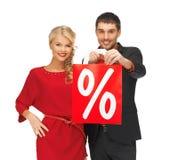 Mann und Frau mit Einkaufstasche Stockfoto