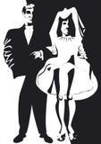 Mann und Frau in Schwarzweiss Lizenzfreies Stockbild