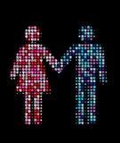 Mann und Frau zusammen Stockbild