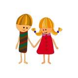 Mann und Frau zusammen vektor abbildung
