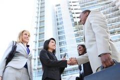 Mann-und Frauen-Geschäfts-Team Stockfoto