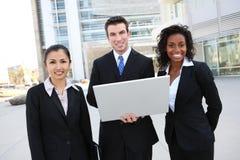 Mann-und Frauen-Geschäfts-Team lizenzfreie stockbilder