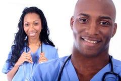 Mann-und Frauen-medizinisches Feld Stockfotografie