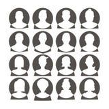 Mann- und Frauenavataras Lizenzfreie Stockbilder