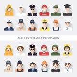 Mann und Frauenberuf Lizenzfreies Stockfoto