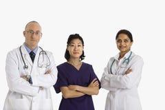 Mann- und Frauendoktoren. Stockbild