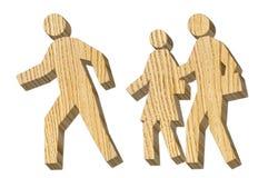 Mann und Frauenfiguren vom Baum Lizenzfreie Stockbilder