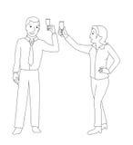 Mann- und Frauengeklirrchampagnerglas Stockbild
