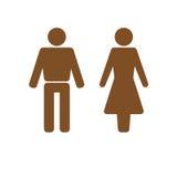 Mann- und Frauenikonenbraun Stockfotos