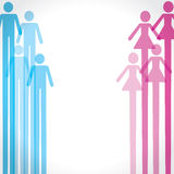 Mann- und Frauenikonenhintergrund Stockbilder