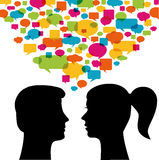 Mann- und Frauenkommunikation Stockbild