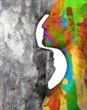 Mann- und Frauenkunstabstraktion Stockfotos