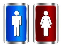 Mann- und Frauenzeichen Stockfoto