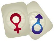 Mann- und Frauenzeichen lizenzfreie abbildung