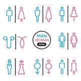 Mann- und Frauenzeichenentwurfs-Anschlagfarbe lizenzfreie abbildung