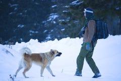 Mann und Hund Stockbilder